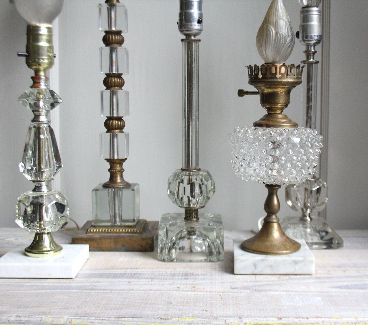 Charming Vintage Glass Hollywood Regency Lamp