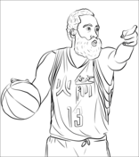 James Harden Coloring page Black History Ideas