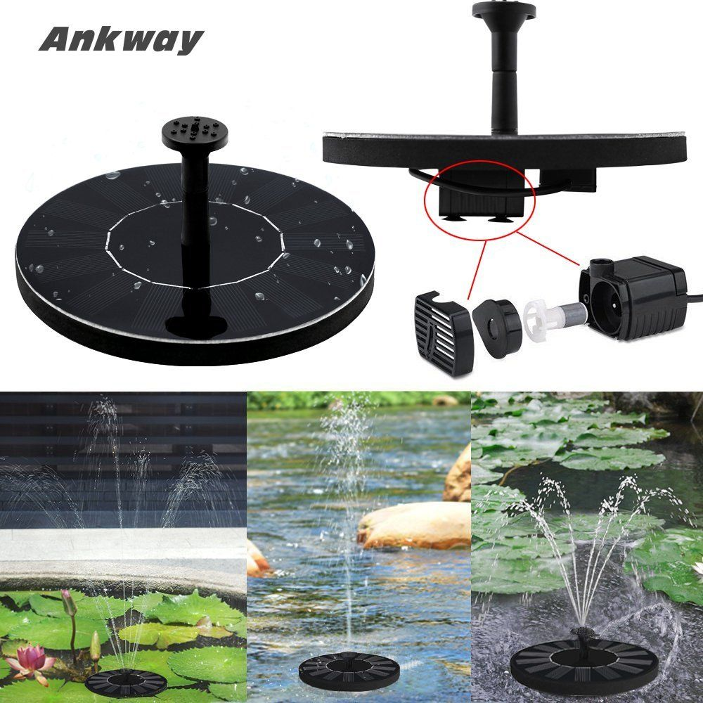 Amazon com : Ankway Solar Bird bath Fountain Pump for Garden
