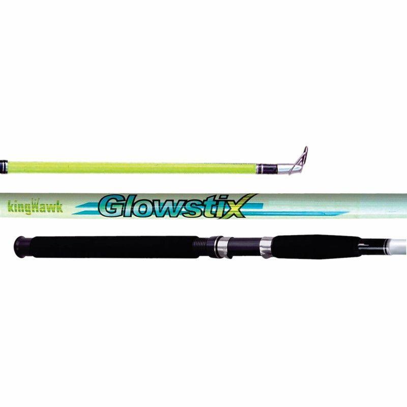 King Hawk GS Glowstix Cast Rod 9'0 In. 2Pc Med GS-928CR/G