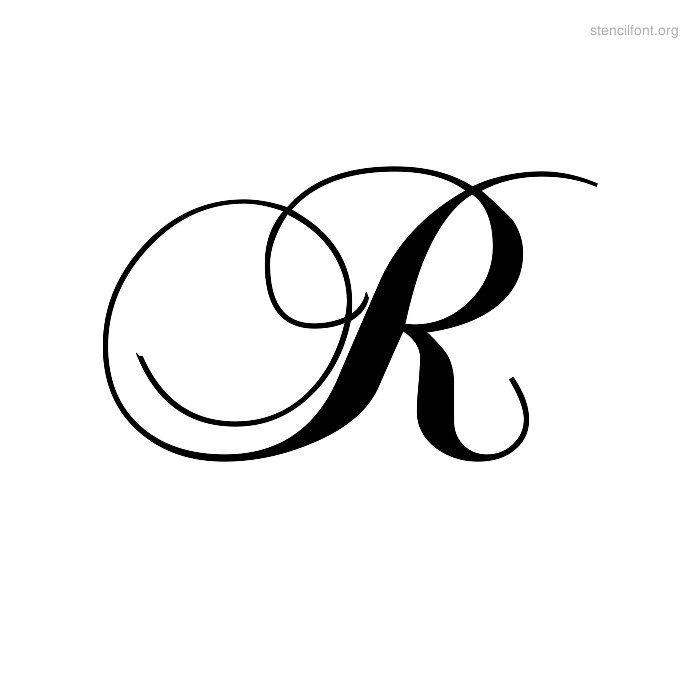Elegant Stencil R | Alphabet | Pinterest | Stencils ...