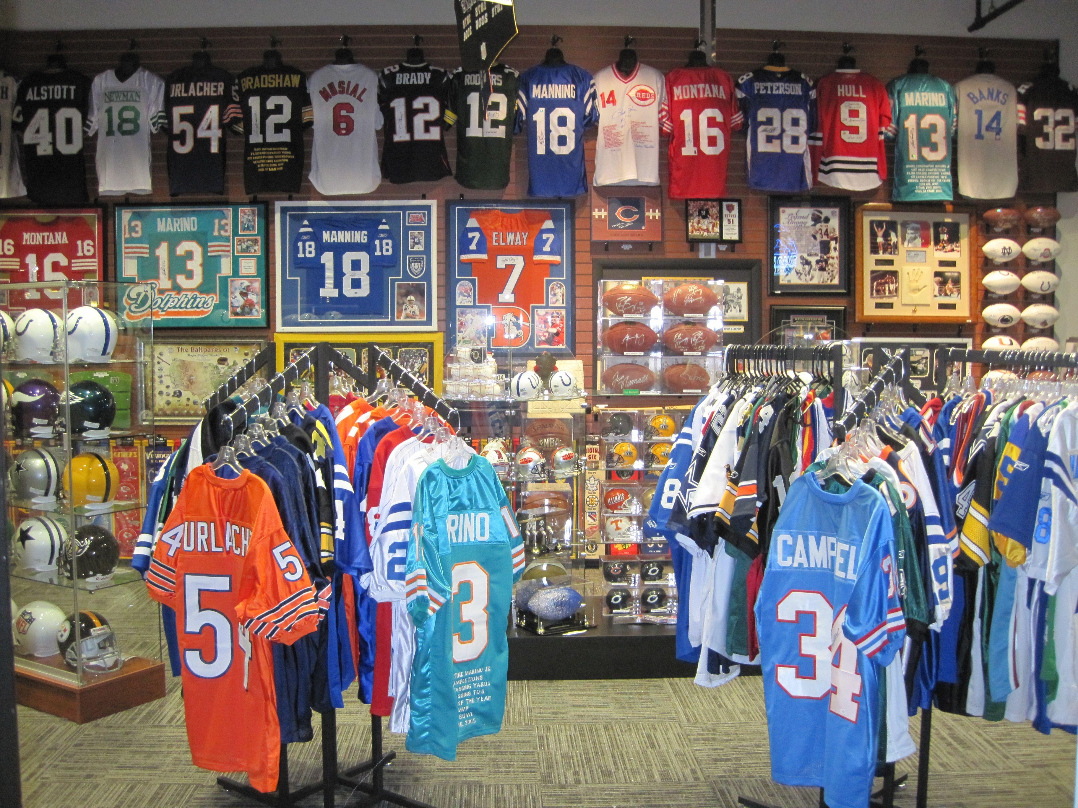 Authentic Sports Collectibles  Memorabilia Wall