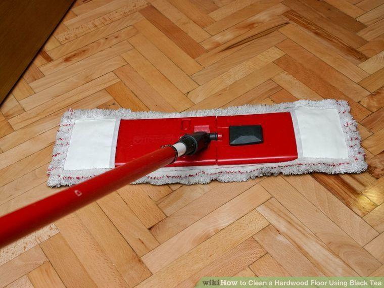 Clean Hardwood Floor Using Black Tea Floors Cleaning Wood Vacuum For