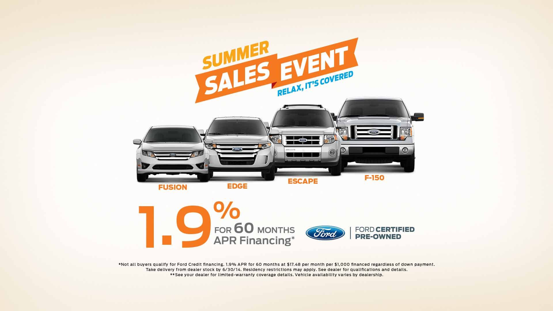 The Certified Pre Owned Summer Event Is Going On Now Ford