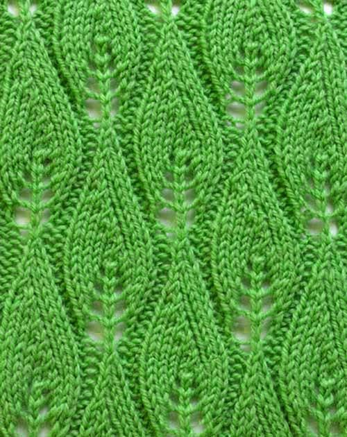 Blattmuster stricken | узоры | Pinterest | Stricken, Strickmuster ...