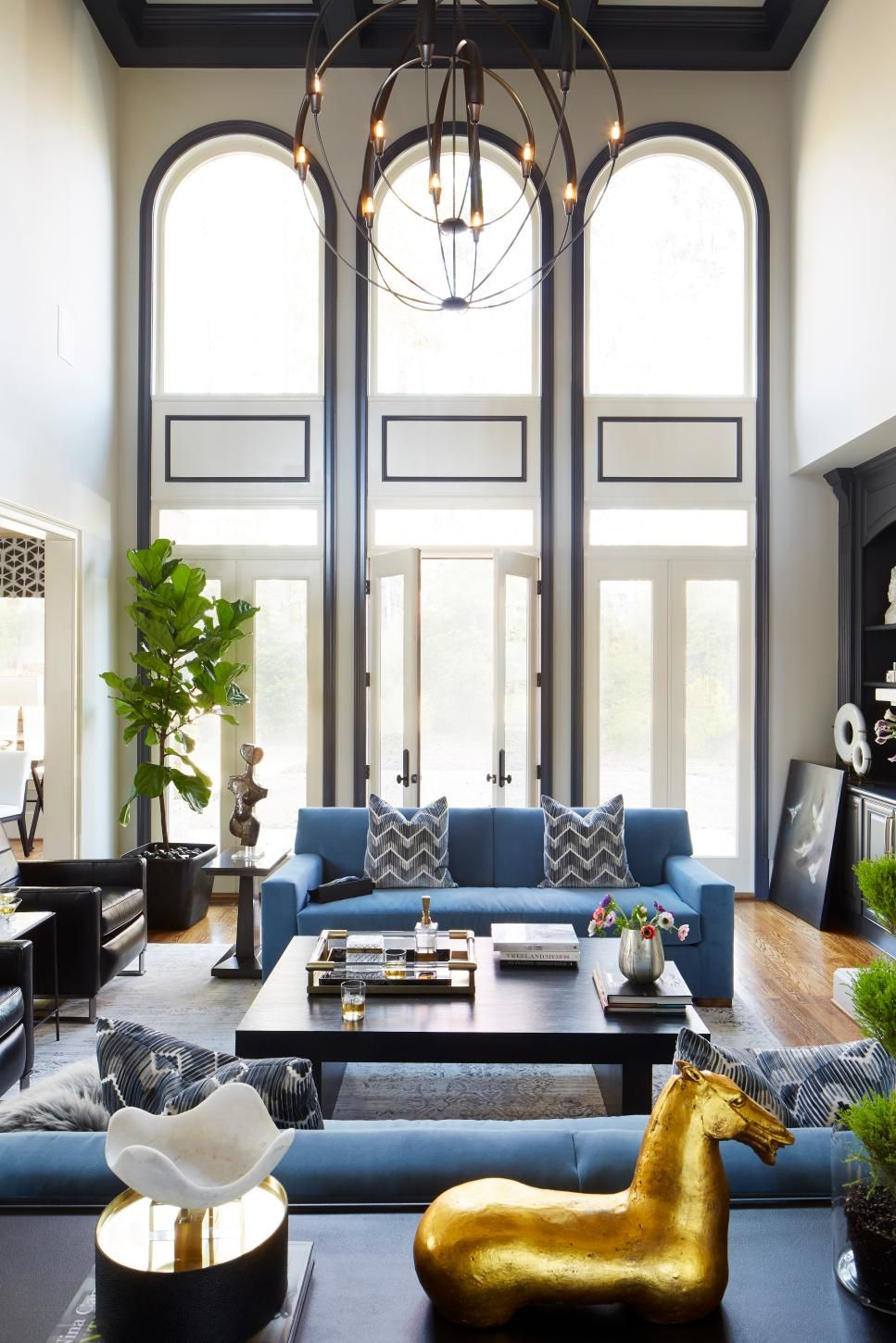 Before And After Living Room Renovations Hgtv Contemporary