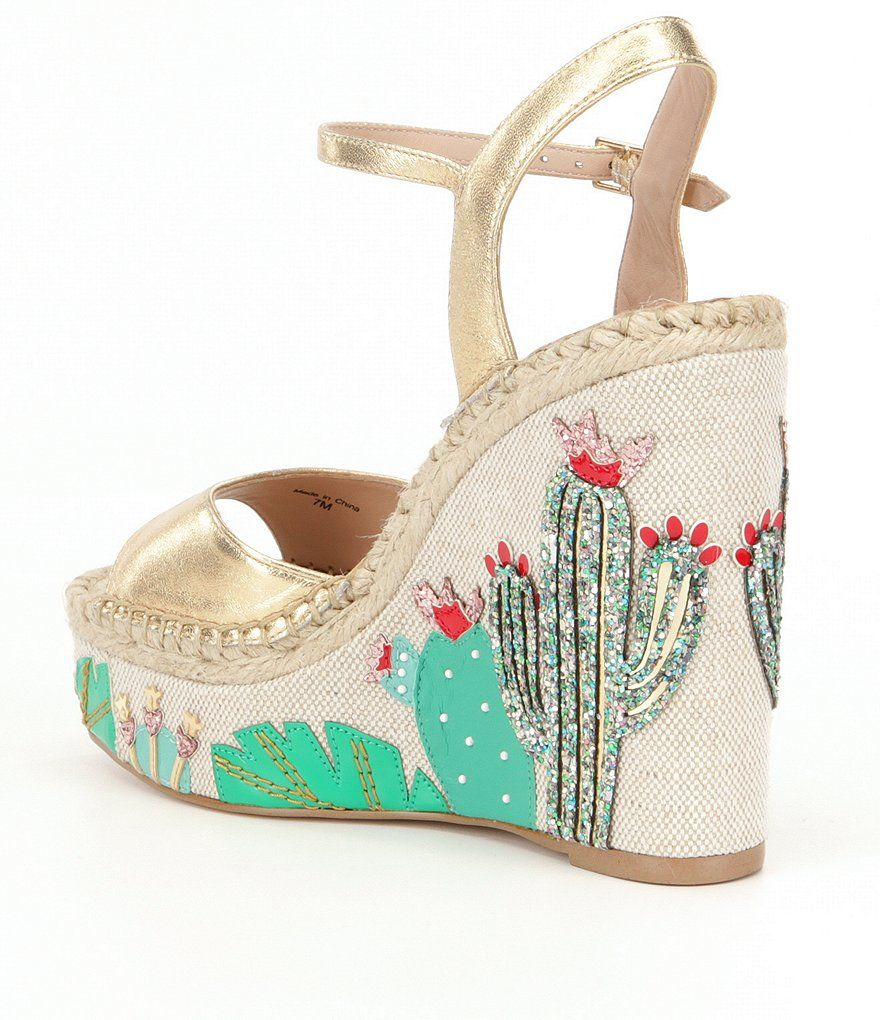03f98782546f kate spade new york Dallas Cactus Wedge Sandals
