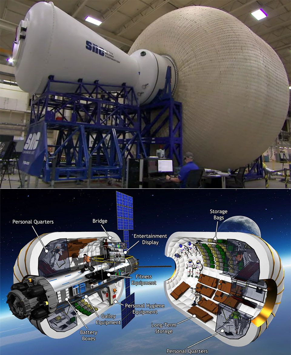 Inflatable space habitat could help astronauts return to ...