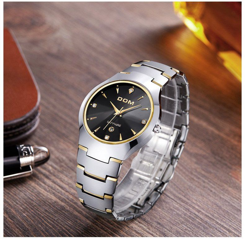 DOM Water Resistant Tungsten Watch