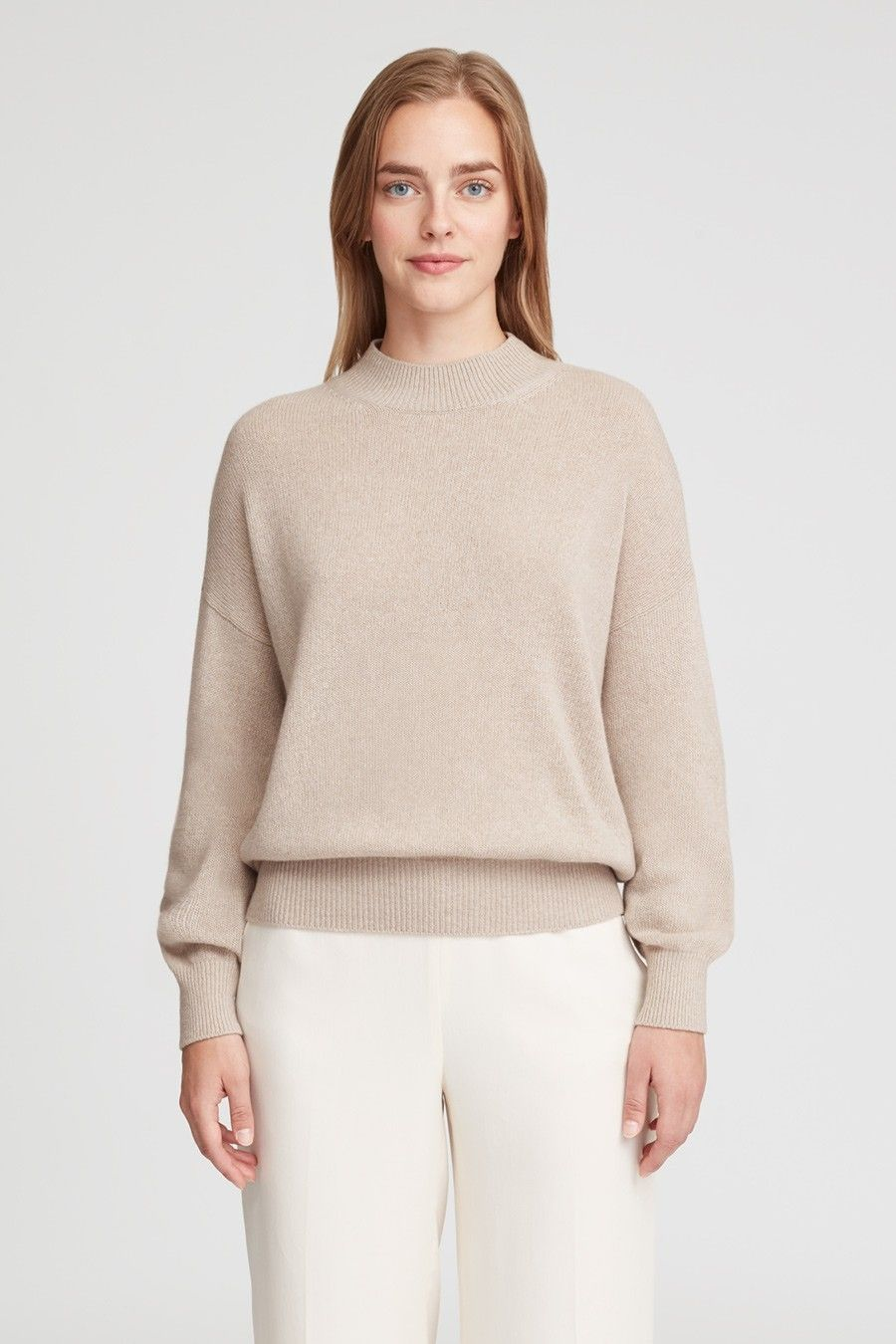 Recycled Cashmere Mock Neck Sweater | Mock neck sweater