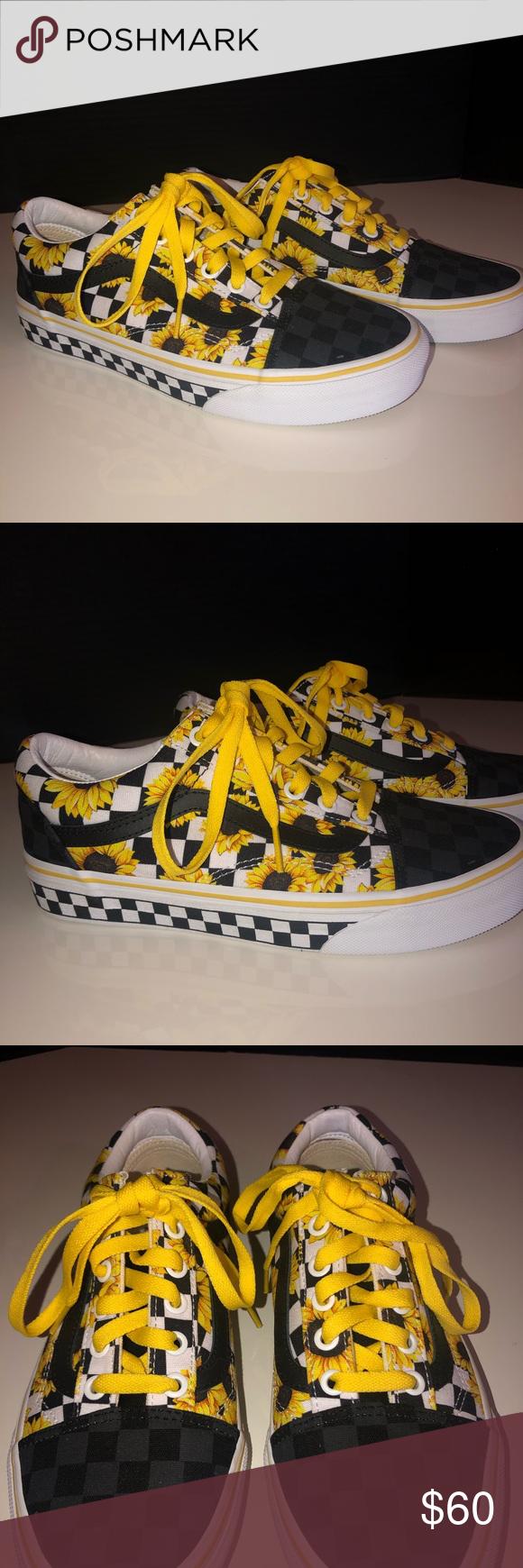 Vans Customs Sunflower Old Skool Shoe