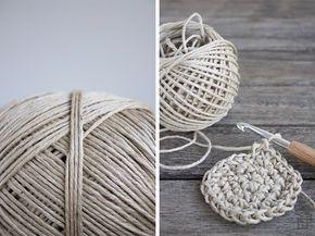 Paketschnur Häkeln Häkeln Pinterest Crochet Knitting Und