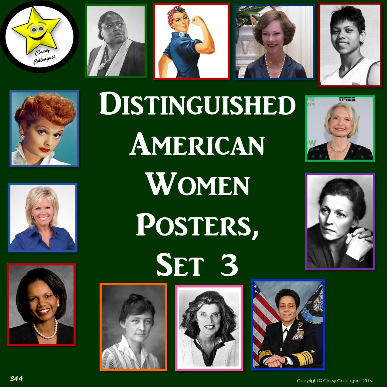 Distinguished American Women Set 3
