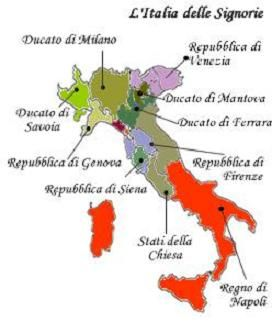 Ios Cartina Geografica.Cartina Geografica Nascita Delle Signorie 1300 Geografia