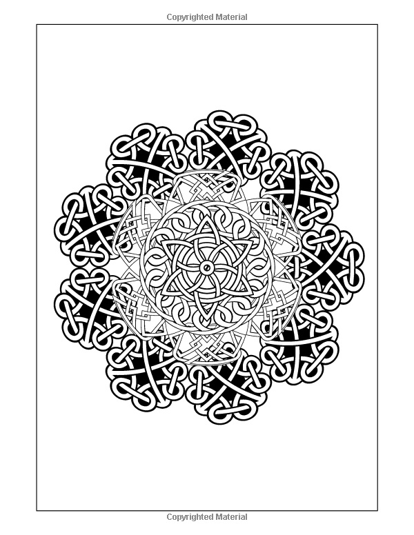 Amazon Coloring Books For Grownup Celtic Mandala Pages Intricate