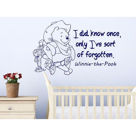 Quote Winnie the Pooh He could see the honey Nursery Baby Room Kids Boys Girls Sticker Decal size 33x39 Color