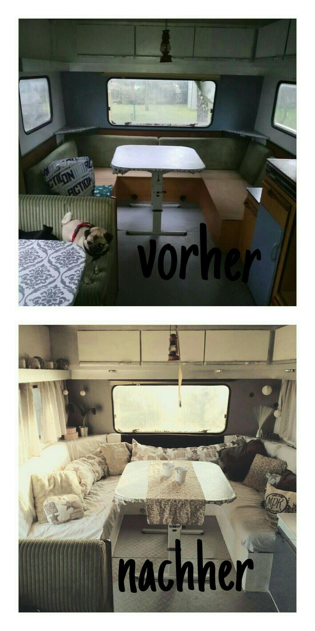 wohnwagen vorher nachher wohnwagen pinterest wohnwagen wohnwagen renovieren und wohnwagen. Black Bedroom Furniture Sets. Home Design Ideas
