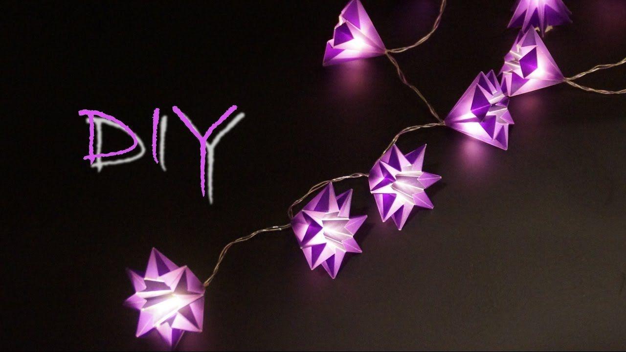 basteln mit papier zu weihnachten: schöne sterne - lichterkette