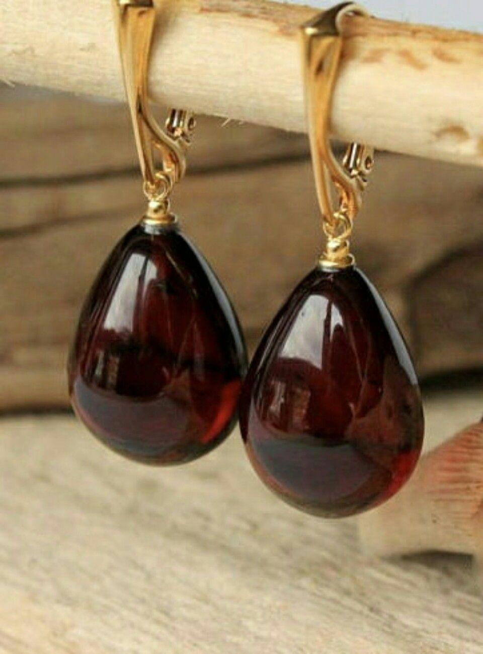 Cherry Amber Earrings