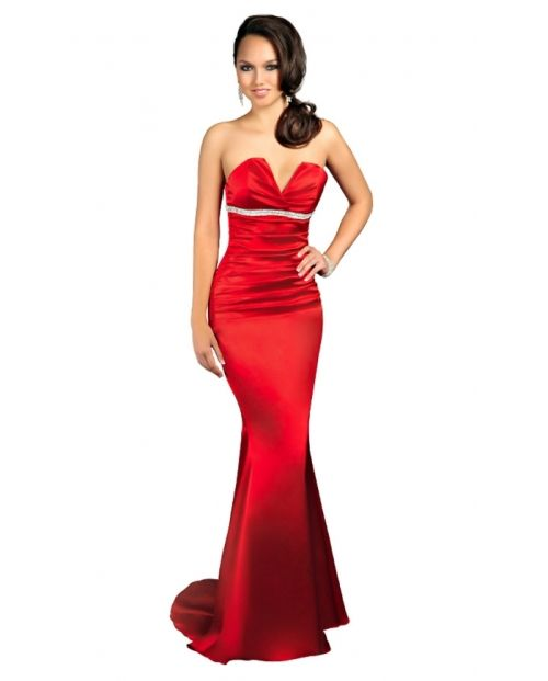 red strapless dress long | Fashion | Pinterest | Strapless dress ...
