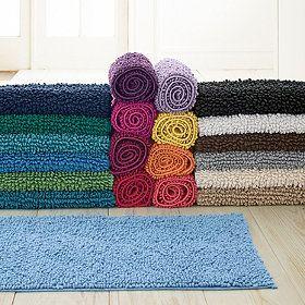 Company Cotton™ Chunky Bath Rug, Black or Red