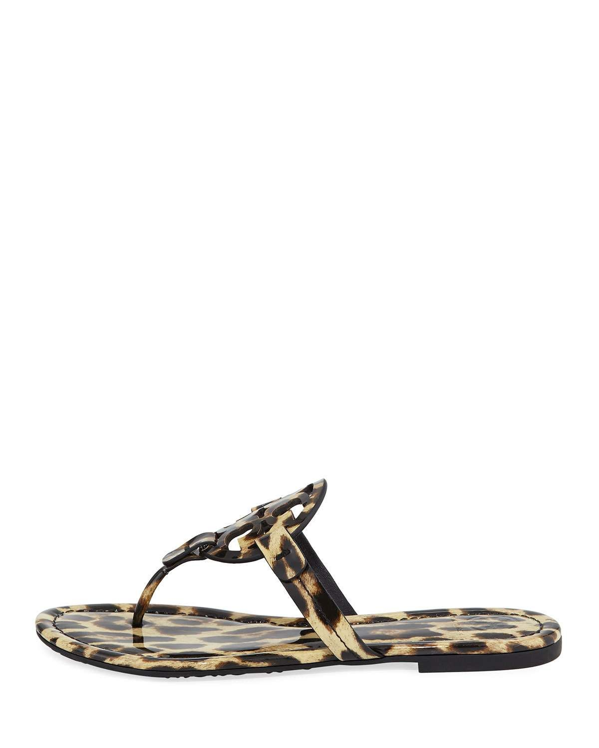 b6da2a9bef06 Tory Burch Miller Printed Flat Thong Sandals | Products | Sandals ...
