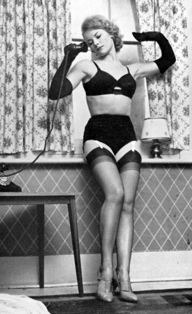Phrase Vintage stockings spick and span