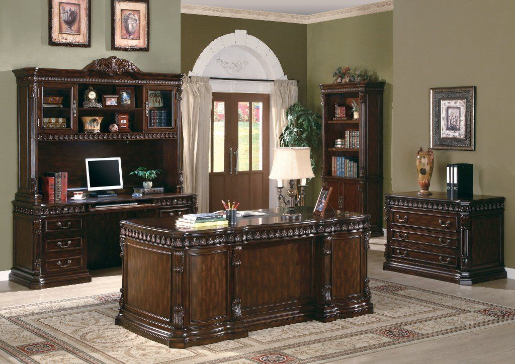 Pin On Green Living Room Ideas, Traditional Office Furniture Sets