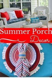 Summer porch decor ideas to welcome family and friends. Make your porch relaxing...,  #Decor ... #relaxingsummerporches