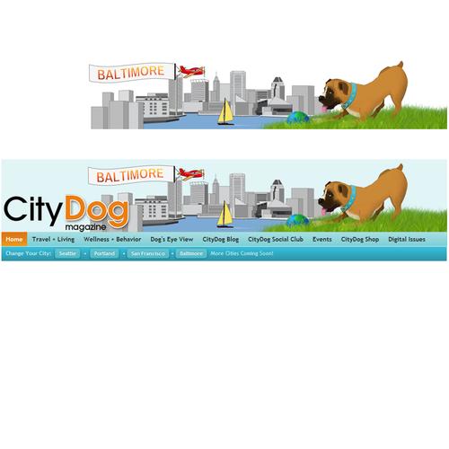 Create a new website masthead for CityDog Magazine