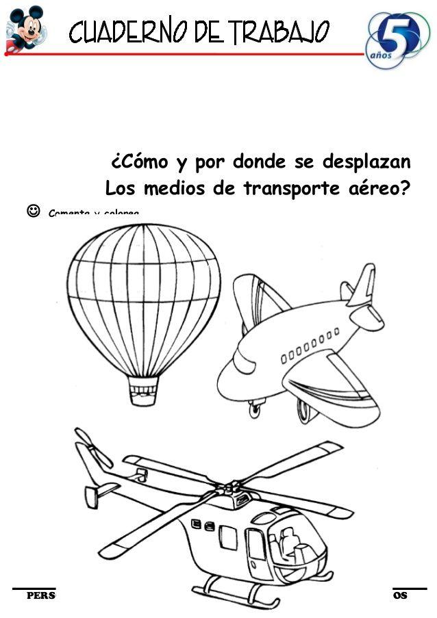 Cómo y por donde se desplazanLos medios de transporte aéreo ...