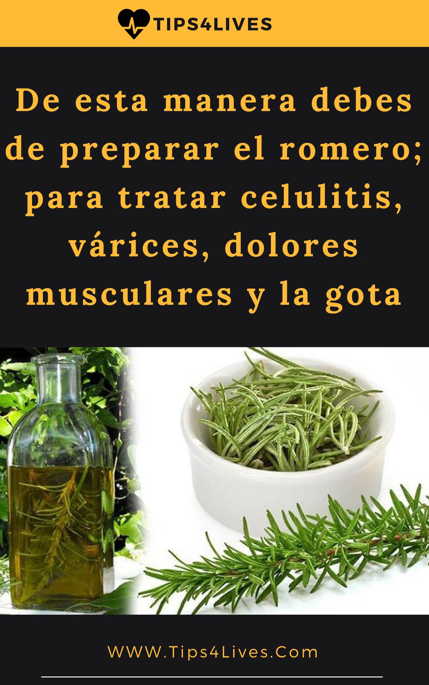 De Esta Manera Debes De Preparar El Romero Para Tratar Celulitis Várices Dolores Musculares Remedies Natural Health Remedies Natural Medicine