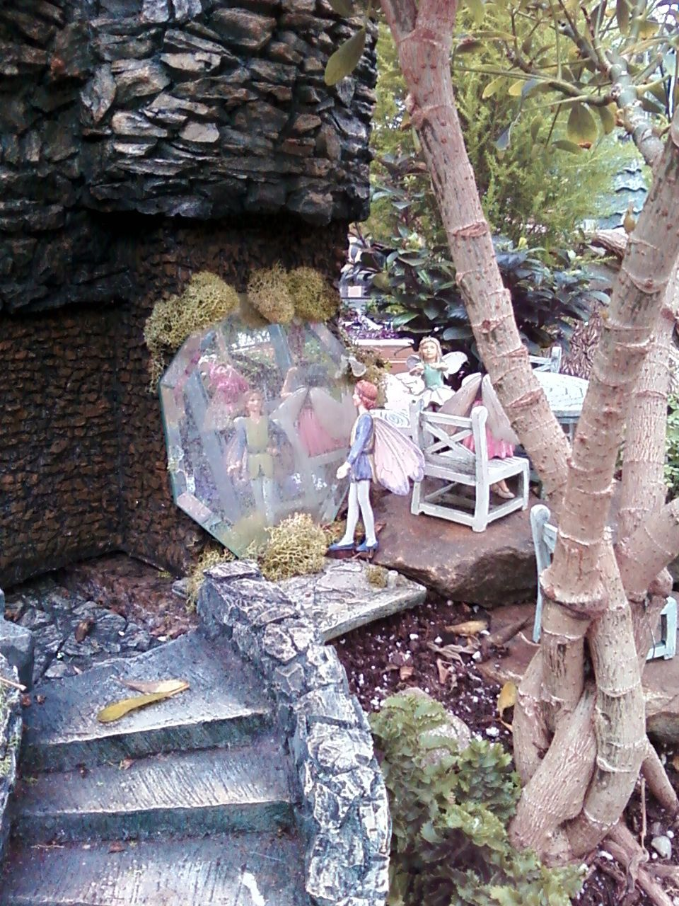 Donzell's Fairy Garden In Akron Ohio Adding A Mirror To A