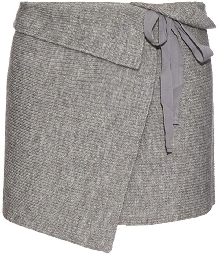 ISABEL MARANT ÉTOILE Lyneth wrap-front knit mini skirt
