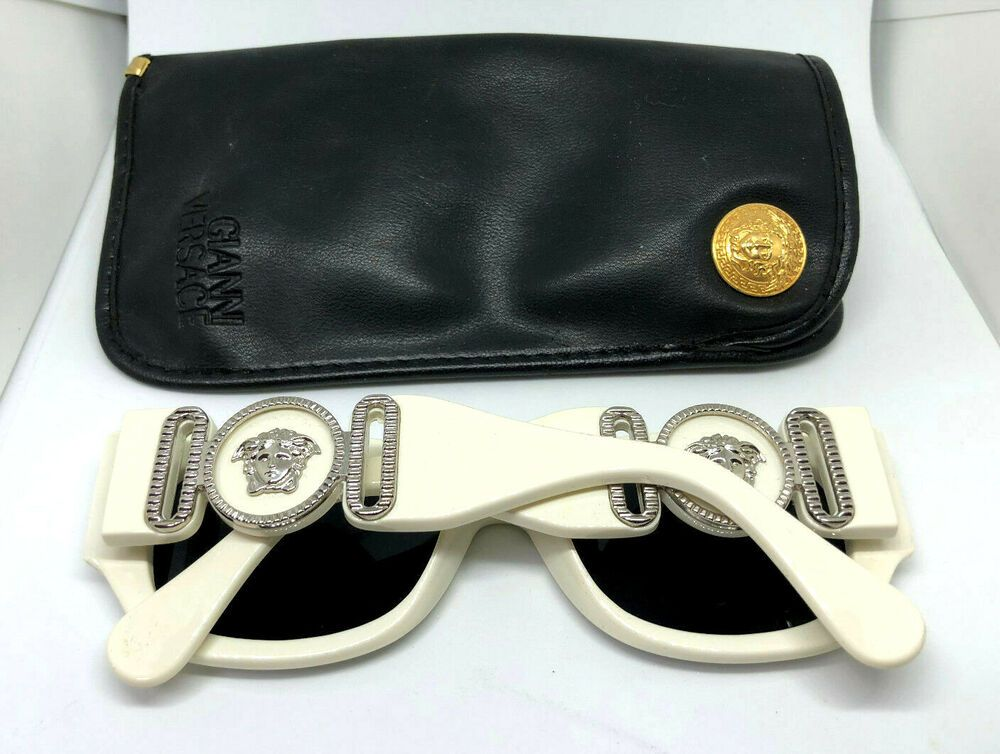bc533155bc1d8 RARE!! Gianni Versace Mod.413 B Col.850 White Vintage Sunglasses Rihanna  Migos  affilink  vintagesunglasses  vintage