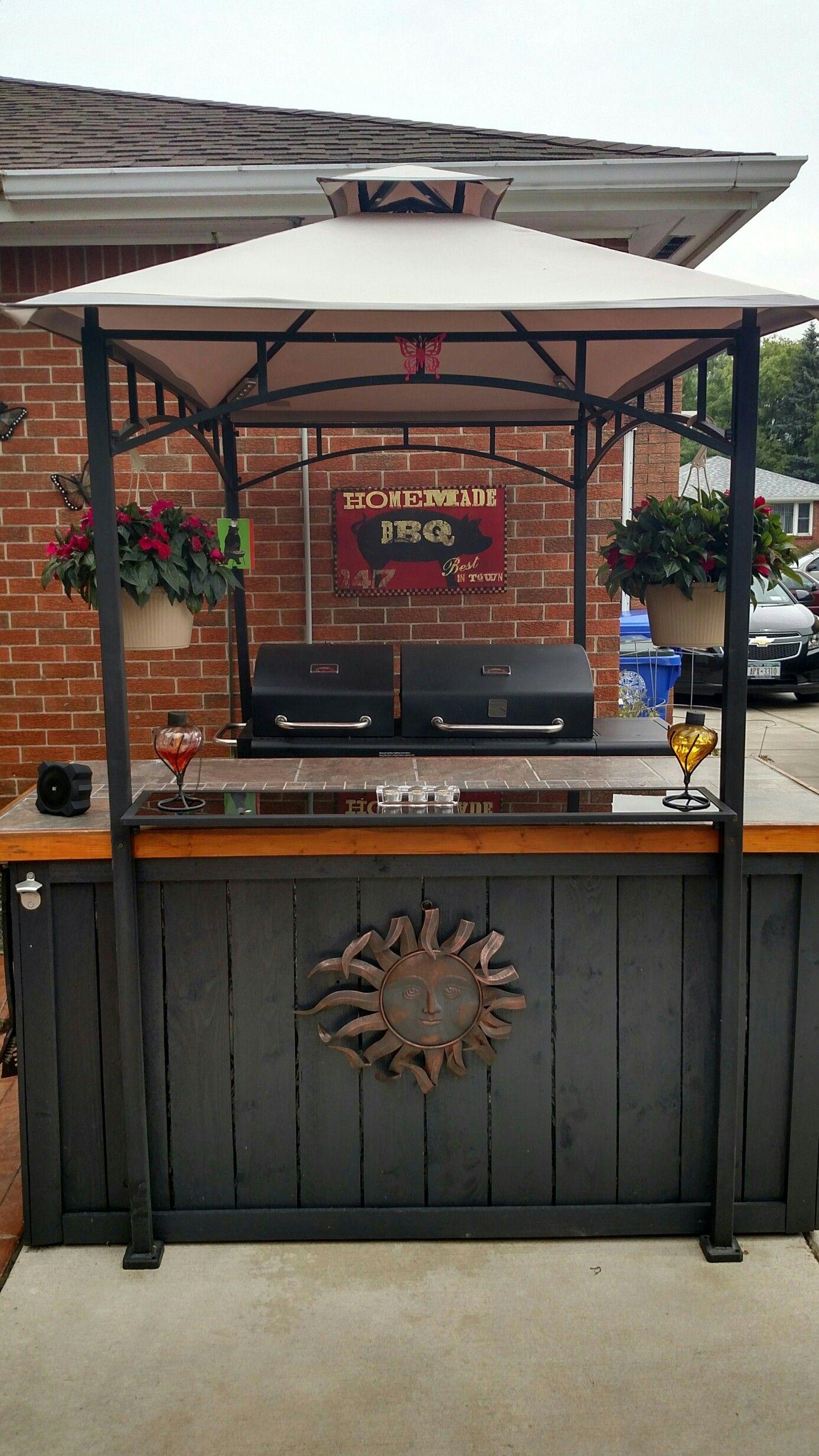grill gazebo anchoredcontainer gardens | container garden