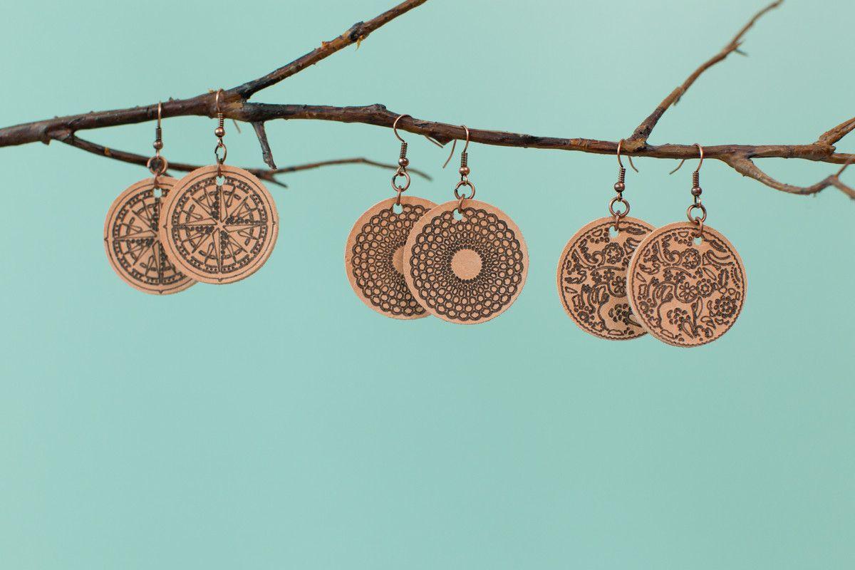 Cricut Design Space Diy leather earrings, Cricut
