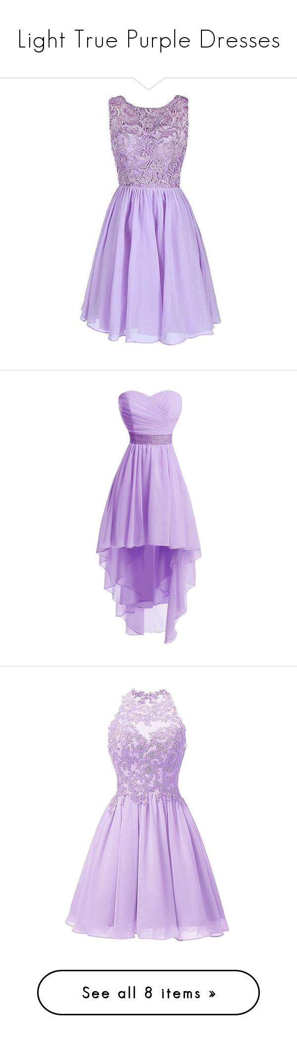 Light true purple dresses