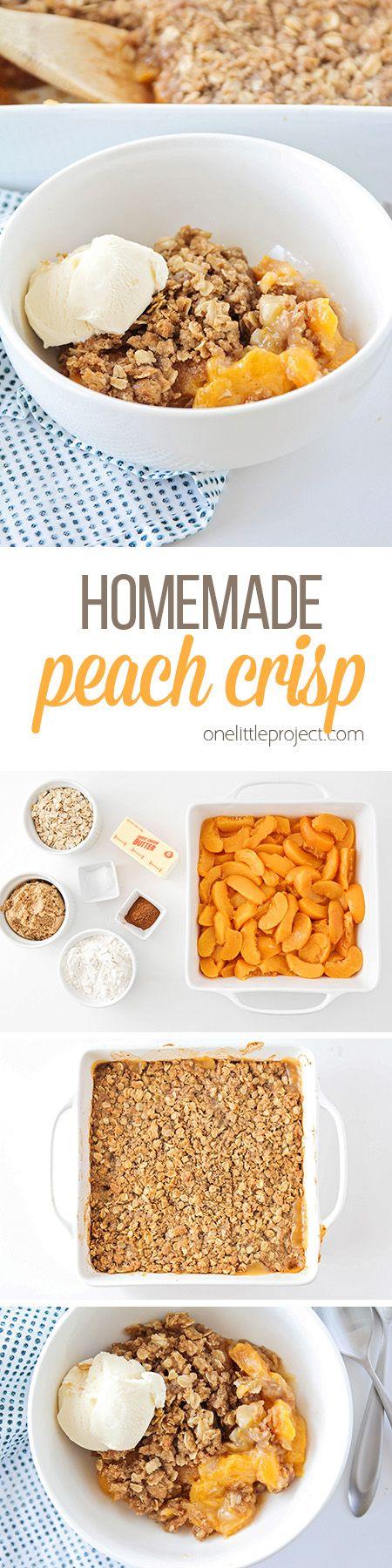 Homemade Peach Crisp Recipe Food recipes, Dessert