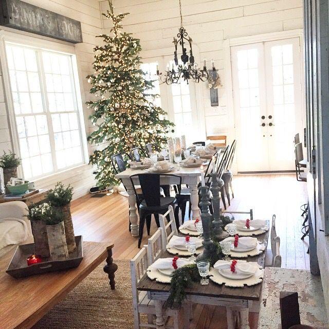 Christmas tree · a farmhouse