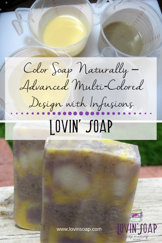 Color Soap Naturally - Advanced Multi Colored Design with Infusions ...