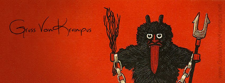 Awesome Krampus Facebook cover photo from GrussVomKrampus.net