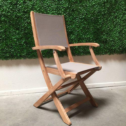 Found it at Wayfair - Stella Folding Dining Arm Chair