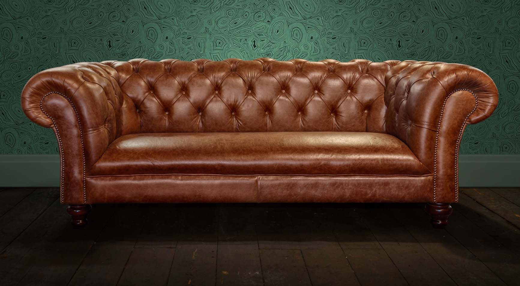 Windsor Chesterfield Sofa Handmade In The Uk Using High Grade Leather And Available With Free Delivery From Chesterfields Of England