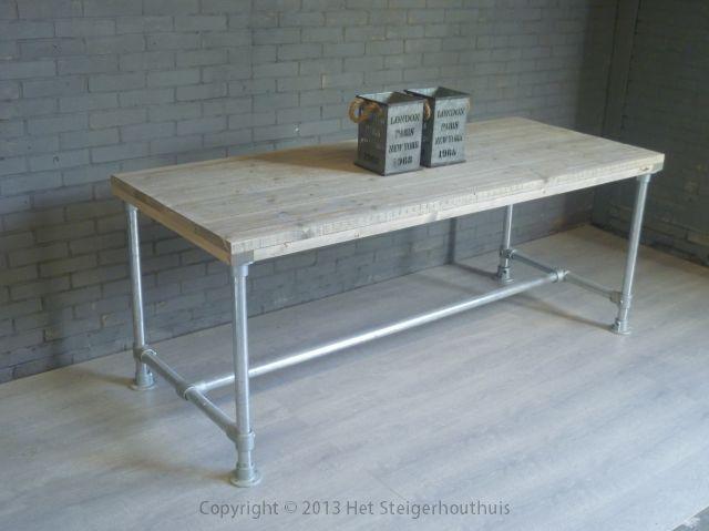 tafel steigerbuis als bureau | huisje weltevree | Pinterest | Pipe