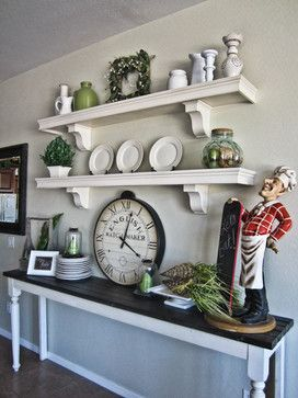 French Style Kitchen Wall Shelves - traditional - kitchen ... on Traditional Kitchen Wall Decor  id=41384