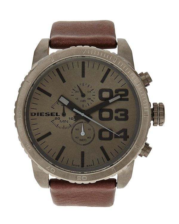 Bigger is better. Like this DZ4210 Grey & Brown Watch for example.