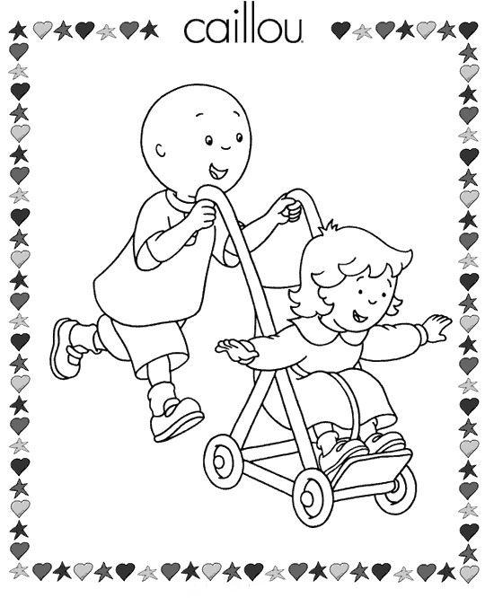 Dibujos para Colorear Caillou 7 | Dibujos para colorear para niños ...
