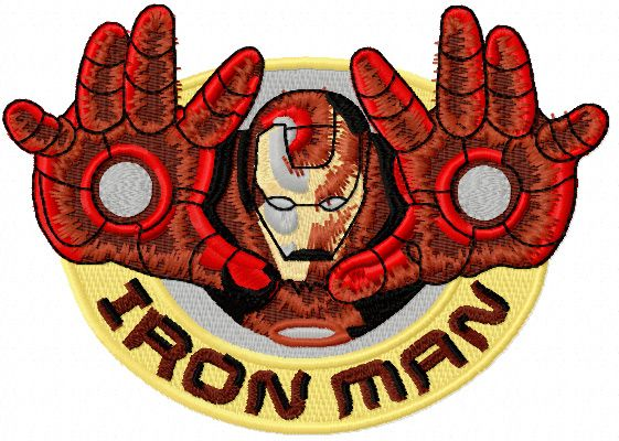 Iron Man Mickey Ears Embroidery Applique Design