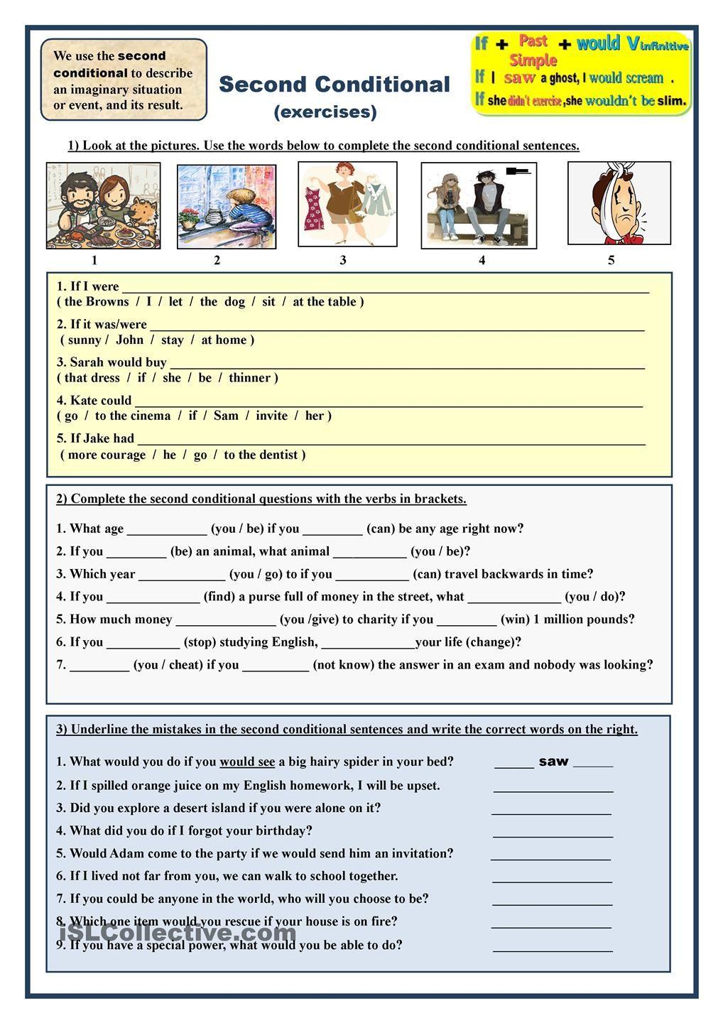 Second Conditional (exercises) | μάνα | Pinterest | Englisch ...